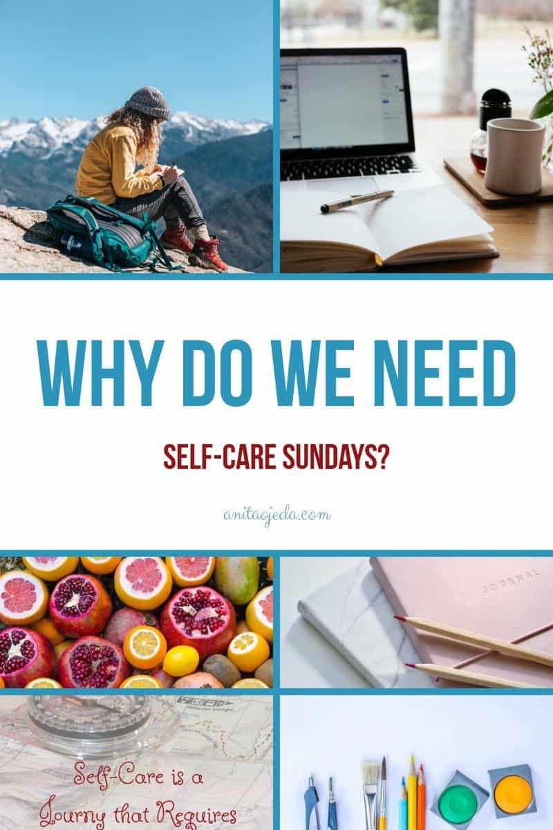 Since Sunday is a the first day of the week, it's a great time to plan out your MAPS of self-care for the rest of the week. #selfcare