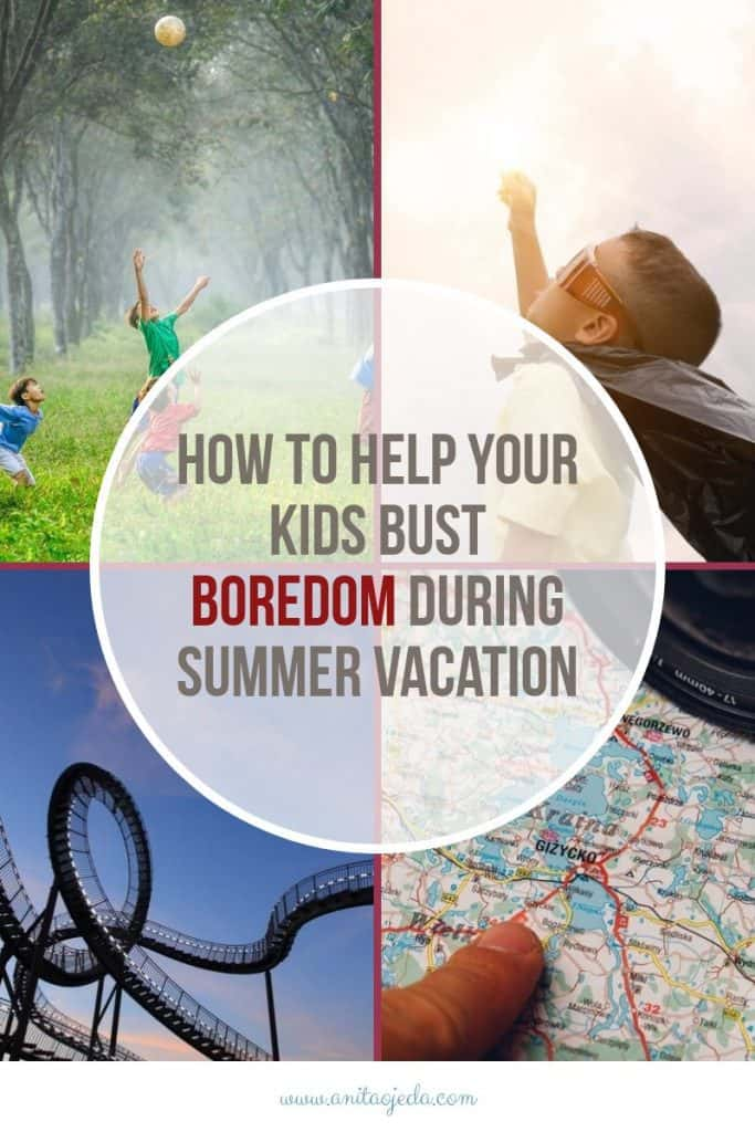 """No parent wants to hear, """"I'm soooo bored!"""" from their kids during vacation. Check out these boredom busters. #lifelonglearning #vacation #parenting"""