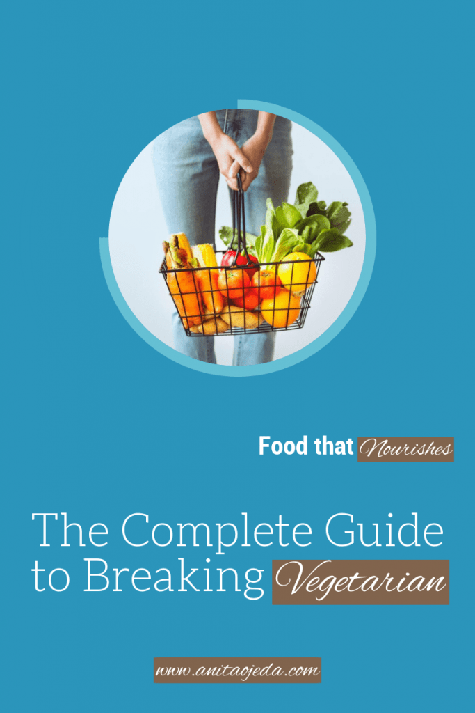 Ever wondered if you could 'break vegetarian?' This series will guide you through breaking vegetarian. #vegetarian #vegetarianism #healhtyeating
