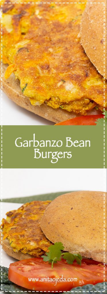 Try these easy-to-make tasty garbanzo bean burgers (they taste like pakoras). #glutenfree, #GF #vegan #vegetarian #recipe