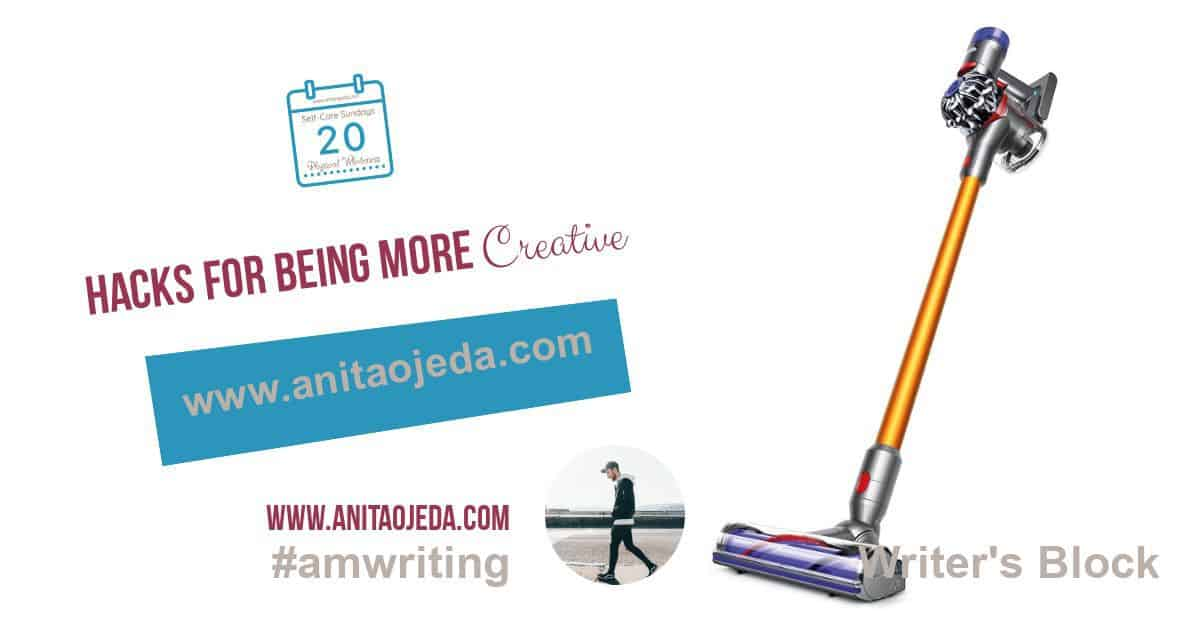 You probably would never equate housecleaning with overcoming writer's block, but I discovered a direct connection. Find out how to reframe housework and get your creative juices flowing! #housekeeping #writersblock #amwriting #tidyhouse #rest #exercise