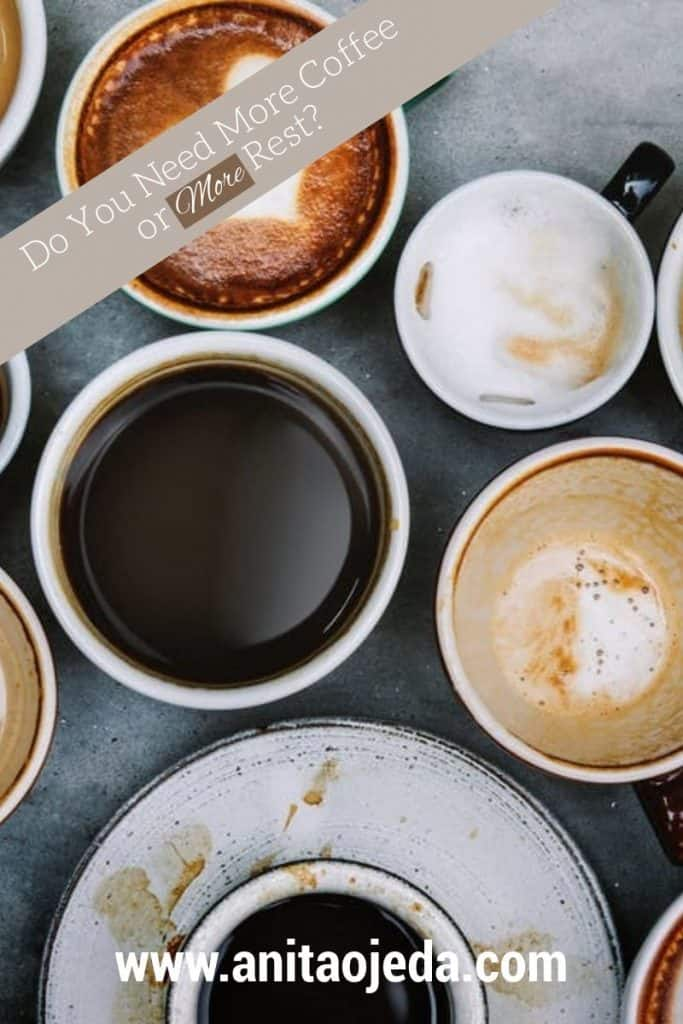 Do you need more coffee or more rest? Making Sabbath rest a part of your life might bring your more energy than another cup of joe. #rest #sabbathrest #coffee
