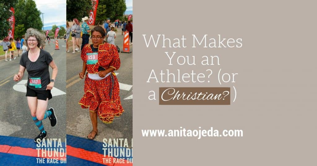 Does signing up for a race make you an athlete? Maybe. Maybe not. Does going to church make you a Christian? Maybe. Maybe not. It all depends on the generous vision of the emcee. #runner #athlete #Christian