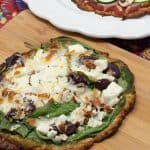 Whether you have to eat a gluten-free diet or you've decided to check out the low-carb keto diet, this amazing cauliflower pizza crust is just what the doctor ordered! One recipe yields eight tasty personal pizza crusts that you can freeze and decorate any way you want to. #GF #Pizzacrust #cauliflower #keto #lowcarb