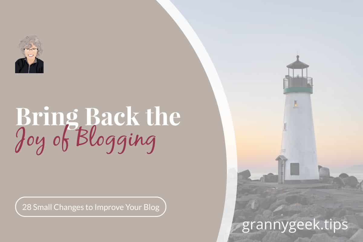 Lost your joy when it comes to blogging? It's happened to me, too. Find out what three things you need to examine to get your joy back. #blogger #amblogging #write28days #joy