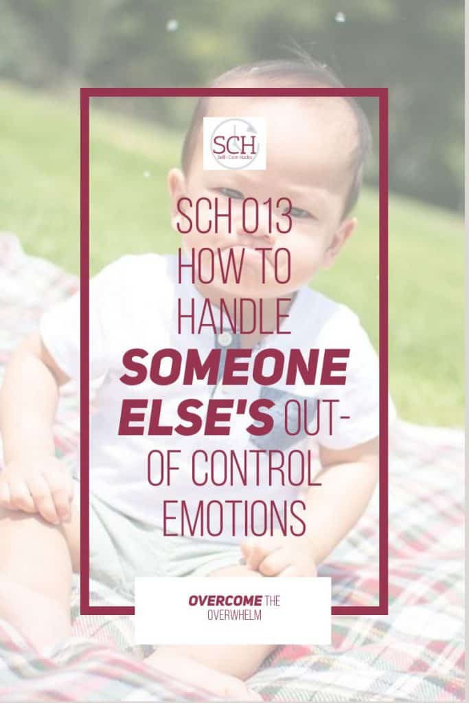 No one enjoys it when someone unloads their out-of-control emotions on them. No one. Today's episode shares five hacks for dealing with someone else's big emotions in a positive way. #anger #angermanagement #harshwords #emotions #emotionalintelligence #dealingwithanger #mentalhealth #emotionalhealth