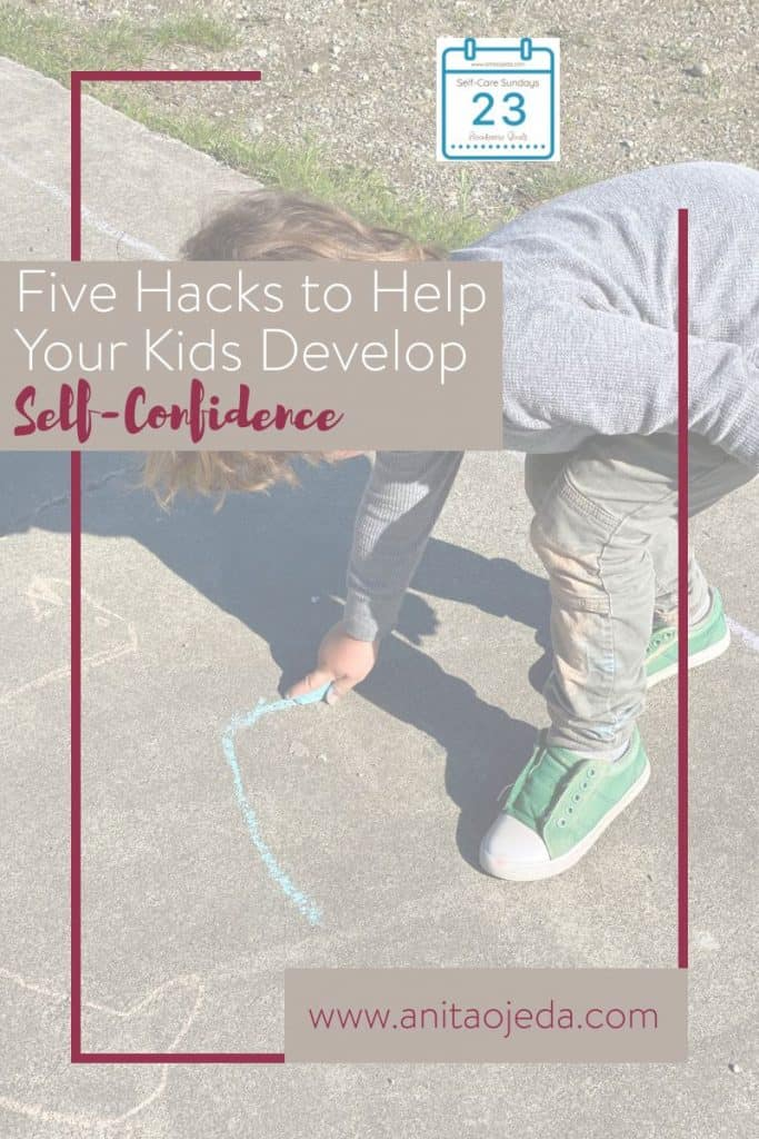 Maybe you didn't grow up with a growth mindset, but there's no reason why your kids can't have one. These five hacks will help you help your kids foster a growth mindset so they can accomplish more with confidence. #growthmindset #goals #parenting #selfconfidence #launchingbeliefs #limitingbeliefs #SMARTgoals #confidentkids