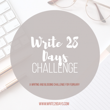 Write 28 Days Writing and Blogging Challenge