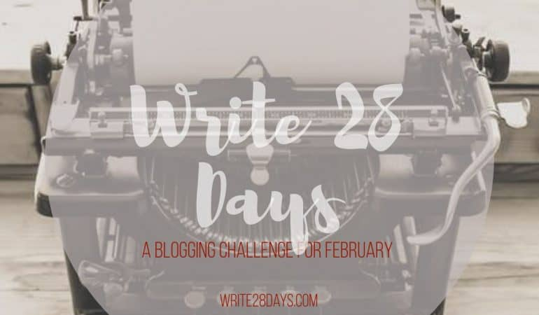 Looking for a blogging challenge to chase away the mid-winter blues? Check out the #write28days writing challenge! Are you in? #blogger #writer #challenge #writerslife #amwriting
